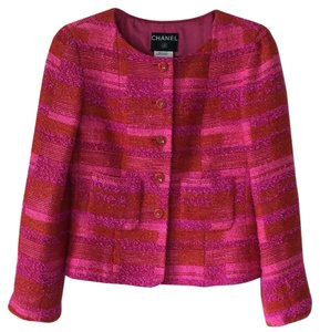 Chanel Color Tweed Multi Blazer