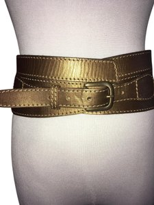 Linea Pelle Metallic Sculpted Waist Belt