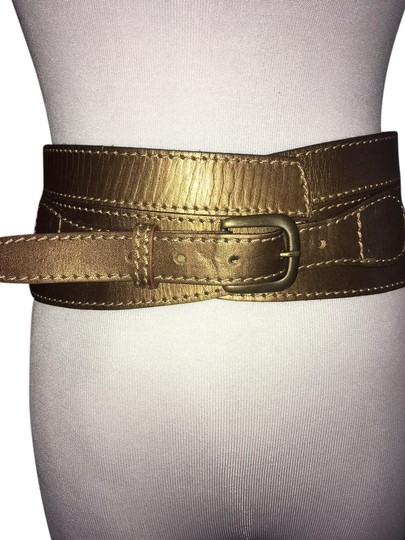 Linea Pelle Metallic Sculpted Waist Belt Image 0