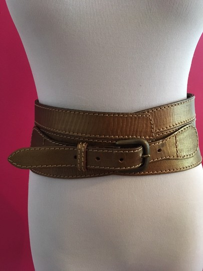 Linea Pelle Metallic Sculpted Waist Belt Image 1