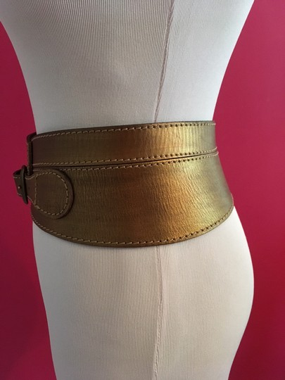 Linea Pelle Metallic Sculpted Waist Belt Image 2