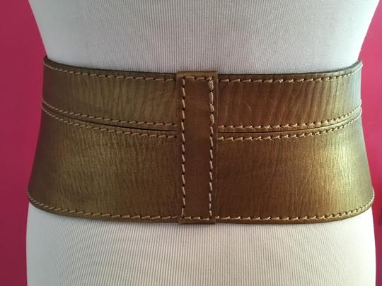 Linea Pelle Metallic Sculpted Waist Belt Image 6
