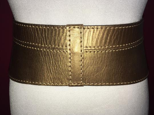 Linea Pelle Metallic Sculpted Waist Belt Image 7