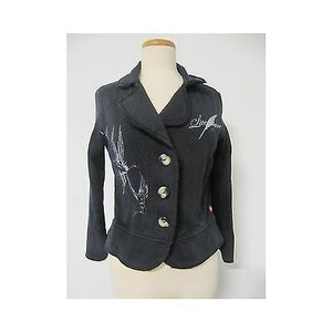 Other Womens The Literature Of Elliot Hans Black Blazer Sweatshirt Jacket