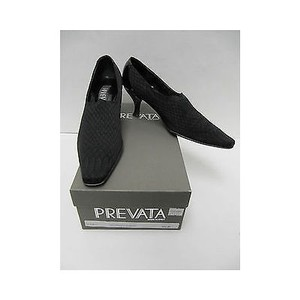 Prevata Womens Socko Serpent Heels Classics Blacks Pumps