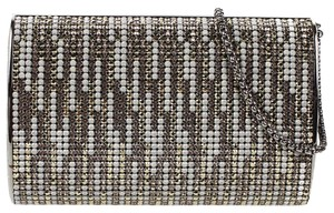 Chanel Crystal Clutch Wristlet in Silver