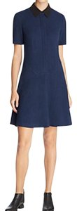 Finity short dress Navy Collar Knit on Tradesy
