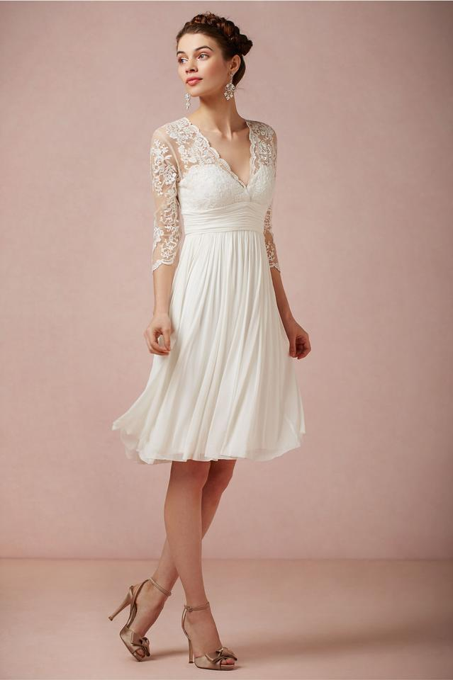 Catherine Deane for BHLDN Ivory Silk and Lace Casual Wedding Dress ...