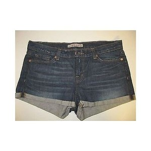 J Brand Womens Pocket Cuffed Loose Cut Off Shorts Blue