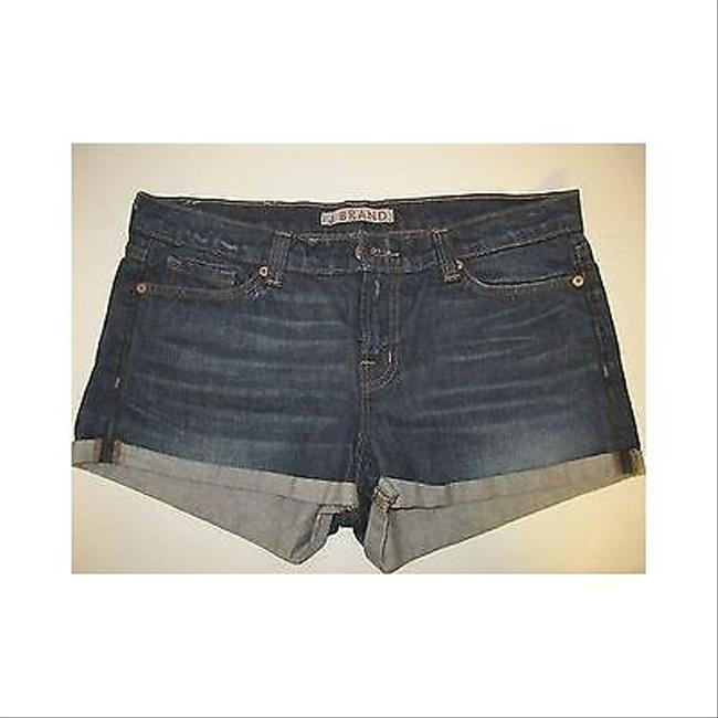 J Brand Womens J Pocket Cuffed Loose Fit Low Rise Jean Cut Off Shorts Blue