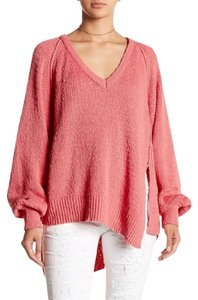 Free People Pink Knit Casual Sweater