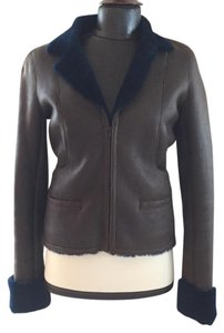 Chanel brown and navy Leather Jacket