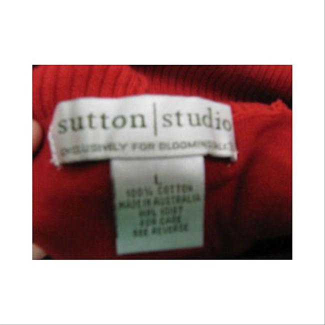 Sutton Studio Red Turtleneck Light Weight Sweater