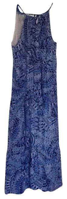 Item - Blues and White Long Cocktail Dress Size 8 (M)