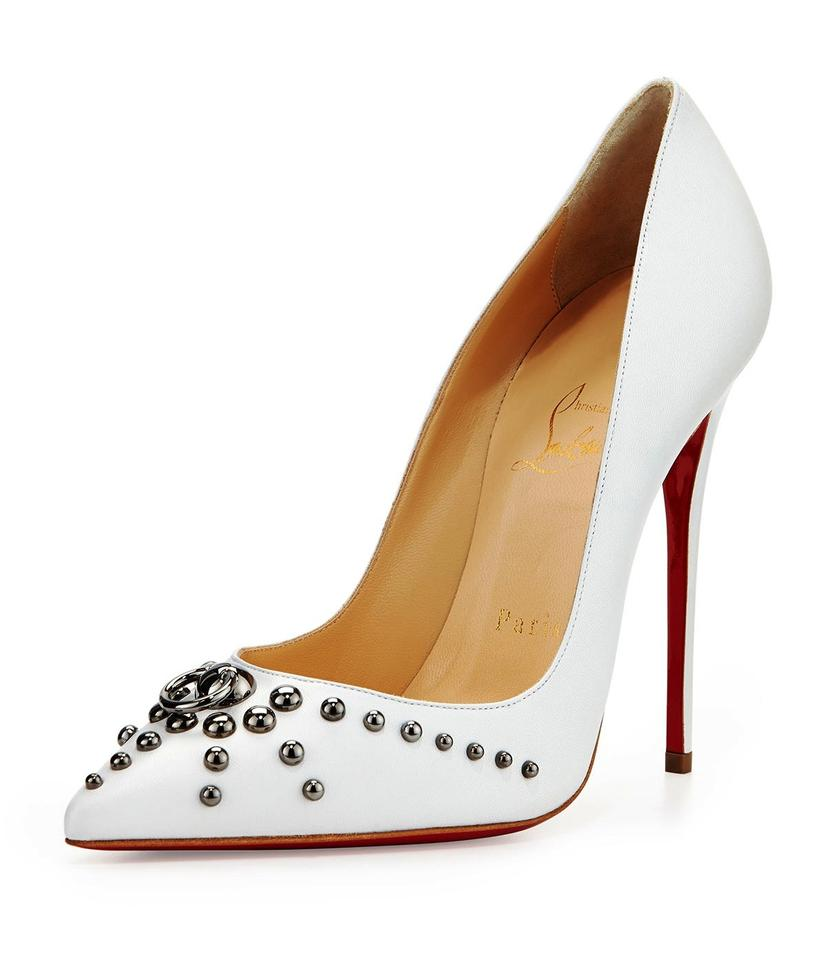 d4ce856fd98 Christian Louboutin White Door Knock So Kate Leather 120 Pumps Size EU 37  (Approx. US 7) Regular (M, B) 38% off retail