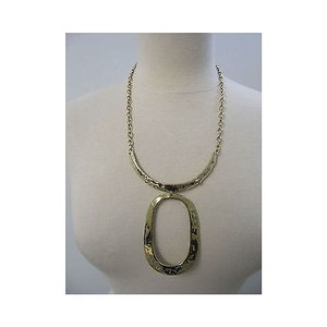 Diane Gilman Womens Diane Gilman Hammered Rib Necklace