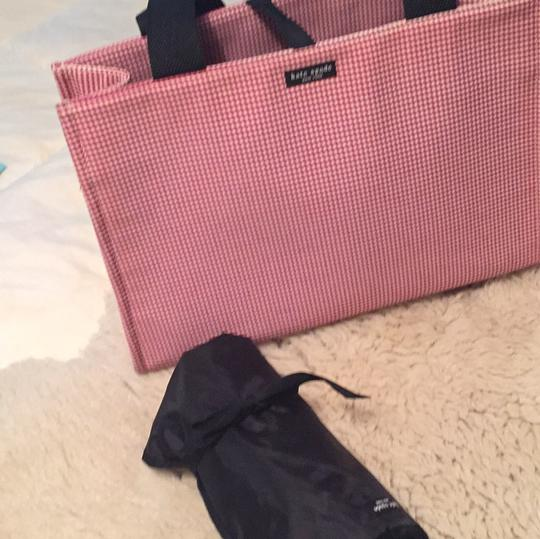 Kate Spade red and white gingham. Diaper Bag Image 10