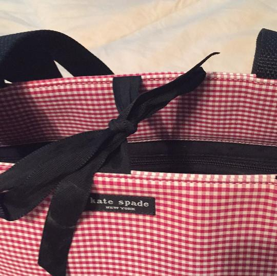 Kate Spade red and white gingham. Diaper Bag Image 11