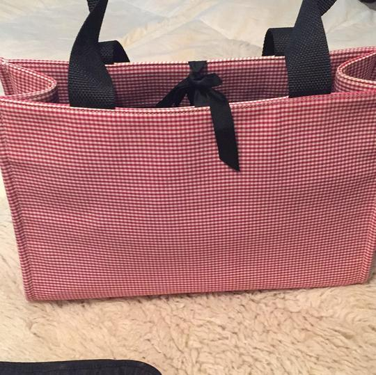 Kate Spade red and white gingham. Diaper Bag Image 3