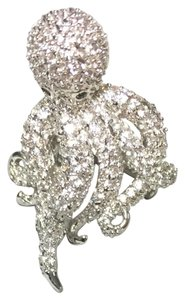 New NEW CZ Encrusted Octopus Adjustable Ring