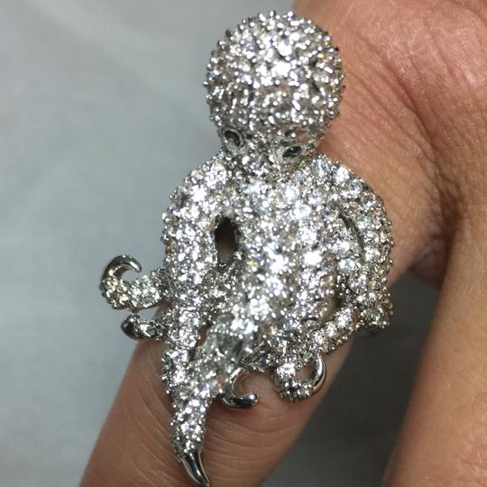 New NEW CZ Encrusted Octopus Adjustable Ring Image 3