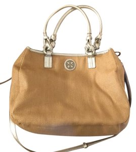 Tory Burch Satchel in tan/silver