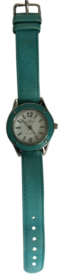 Anne klein bright blue turquoise leather watch y121e on tradesy for Anne klein y121e