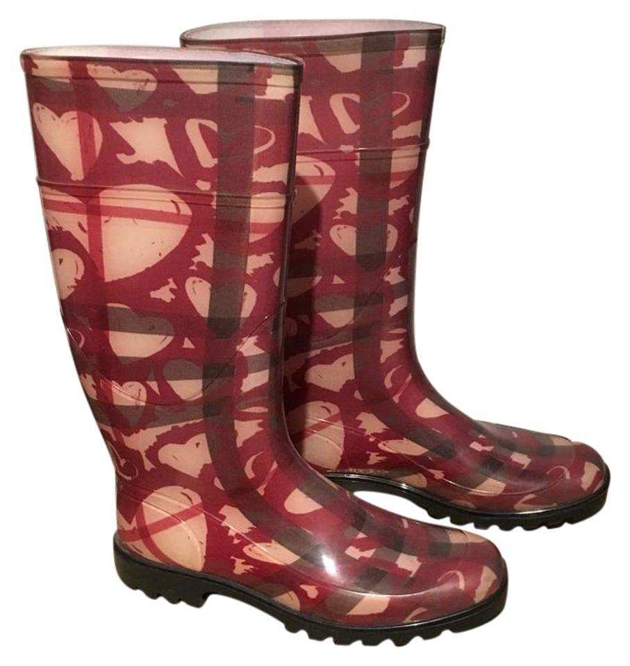 woman Burberry Superior Berry Red 3643733 Boots/Booties Superior Burberry quality 16408c
