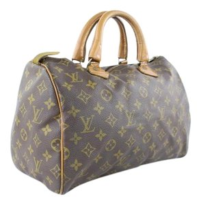 LOUIS VUITTON Damier Speedy Limited Edition Rare Speedy 35 Satchel in Brown