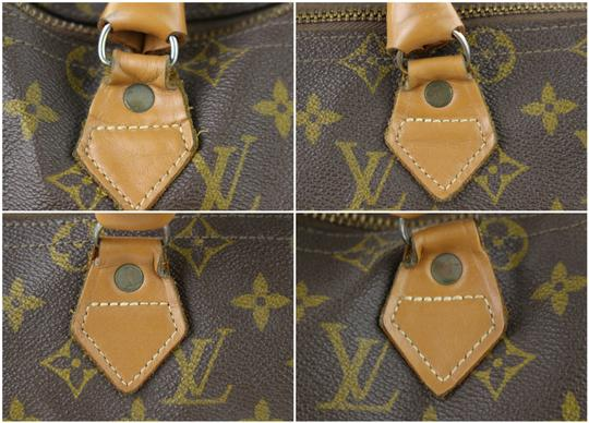 LOUIS VUITTON Damier Speedy Limited Edition Rare Speedy 35 Satchel in Brown Image 4
