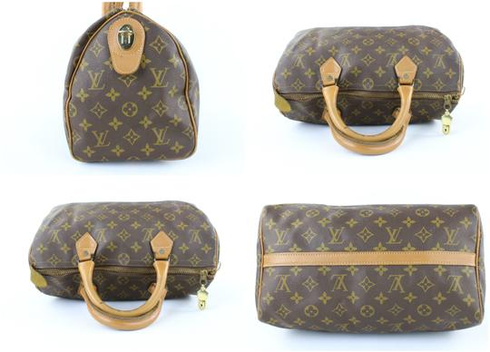 LOUIS VUITTON Damier Speedy Limited Edition Rare Speedy 35 Satchel in Brown Image 7
