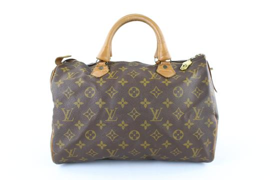 LOUIS VUITTON Damier Speedy Limited Edition Rare Speedy 35 Satchel in Brown Image 8