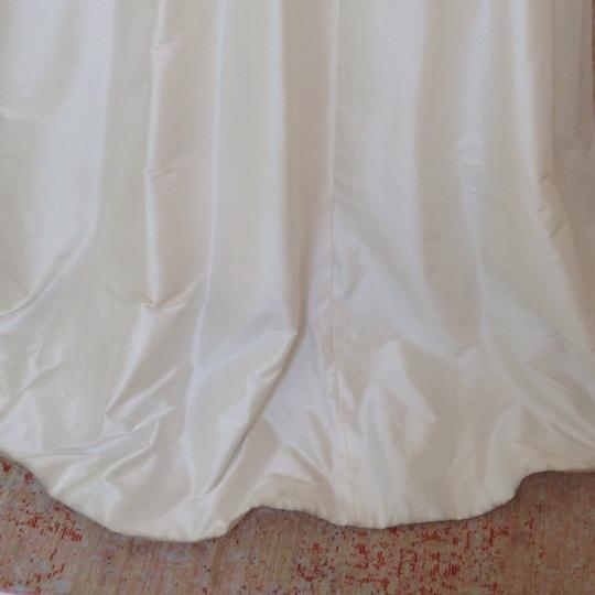 Ivory Silk Marilyn Traditional Wedding Dress Size 4 (S) Image 10