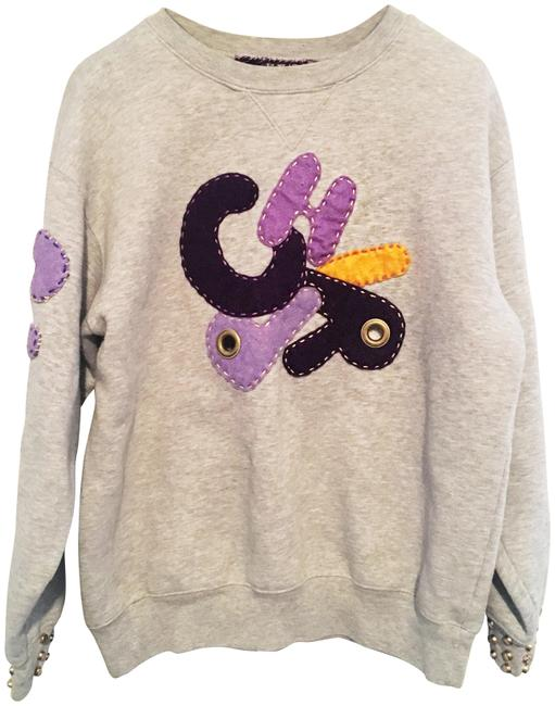 Preload https://img-static.tradesy.com/item/22317475/grey-vinatge-patchwork-embroidered-eyelet-sweatshirthoodie-size-8-m-0-10-650-650.jpg