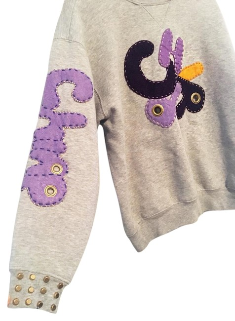 Bsixtee6 Vinatge Patchwork Embroidered Gold Hardware Studded Sweatshirt Image 1