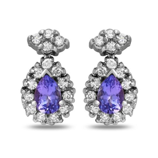 Preload https://img-static.tradesy.com/item/22317482/white-gold-175ct-natural-tanzanite-and-diamond-14k-solid-earrings-0-0-540-540.jpg