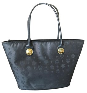 MCM Large Nylon Vintage Tote in black
