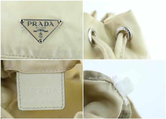 PRADA Bucket Drawstring Travel Pouch Cosmetic Case Hobo Bag Image 1