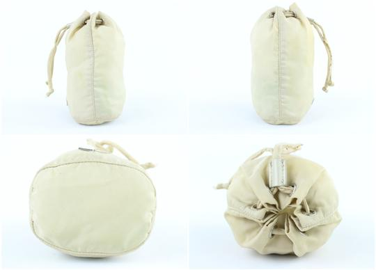 PRADA Bucket Drawstring Travel Pouch Cosmetic Case Hobo Bag Image 4