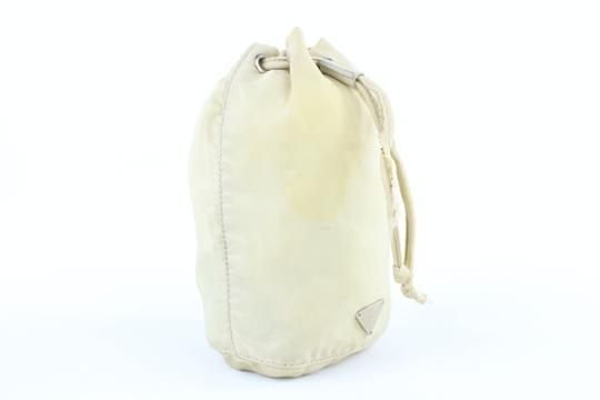 PRADA Bucket Drawstring Travel Pouch Cosmetic Case Hobo Bag Image 7