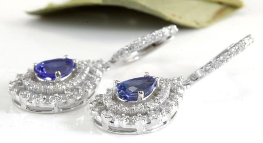 Other 6.00Ct Natural Tanzanite and Diamond 14K White Gold Earrings Image 5