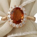 Other 2.35Ct Natural Madeira Citrine and Diamond 14K Rose Gold Ring Image 0