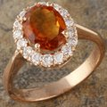 Other 2.35Ct Natural Madeira Citrine and Diamond 14K Rose Gold Ring Image 1