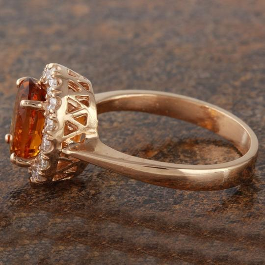 Other 2.35Ct Natural Madeira Citrine and Diamond 14K Rose Gold Ring Image 2