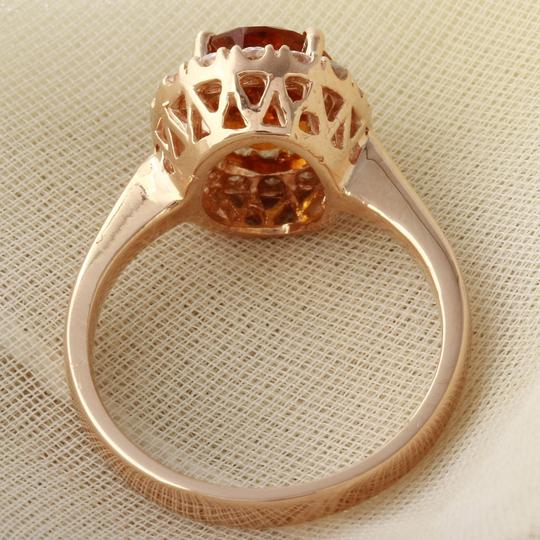 Other 2.35Ct Natural Madeira Citrine and Diamond 14K Rose Gold Ring Image 3