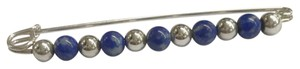 Tiffany & Co. Tiffany & Co. Lapis and Sterling Silver Bead Brooch