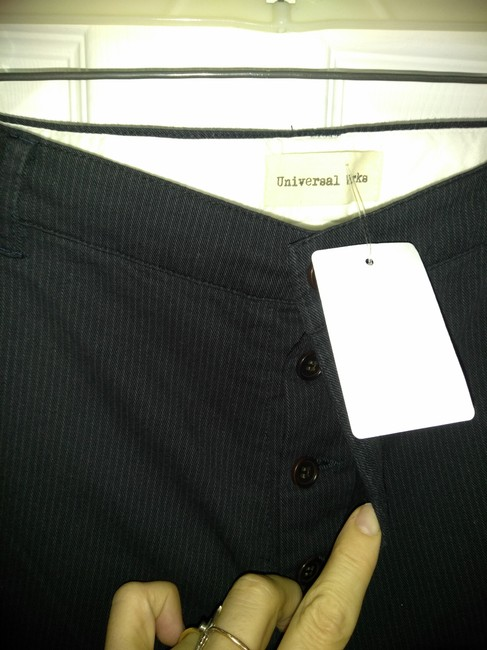 Universal works Straight Pants Black dark blue Image 1