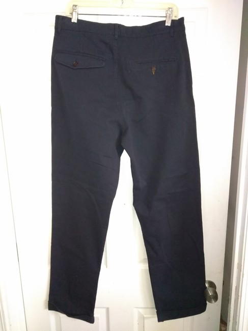 Universal works Straight Pants Black dark blue Image 3