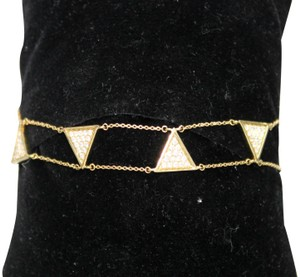 other Triangle Double Chain With Diamond Bracelet