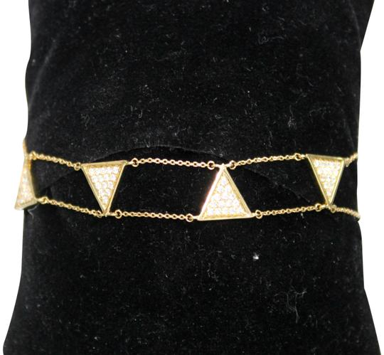 Preload https://img-static.tradesy.com/item/22317743/yellow-gold-white-gold-14k-triangle-double-chain-with-diamond-bracelet-0-6-540-540.jpg